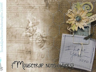 How to make a Mousetrap Noteholder - Upcycle Crafts