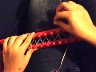 How to: make a scarf w. a loom (Part 1)