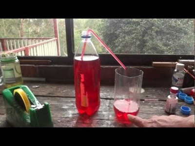 How to make a Straw Syphon - Simple Science Experiment - Uses Everyday Items