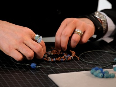 How to String Beads on Leather | Making Jewelry
