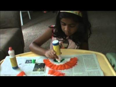 India Flag Banner - Kids Craft
