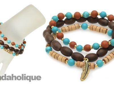 Instructions for Making the Boho Gemstone Bracelet Kit