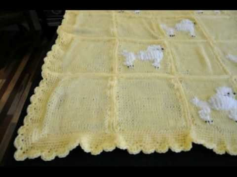 Knit Granny Square Afghan Crochet Border - Oodles of Poodles #1