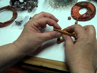 Making Polymer Clay Spiral Beads In the Organic Style by B'sue