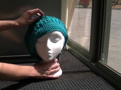 Puff Stitch Slouch Crochet Hat Tutorial