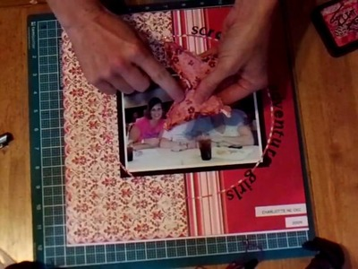 Scrapbook Embellishment: Fabric Butterflys using the Paperwishes template