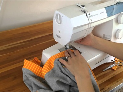 Sewing a zipper on a sweatshirt with Brindille & Twig