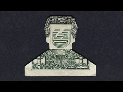 SMILING DUDE - Money Origami - Dollar Bill Art - 360° view