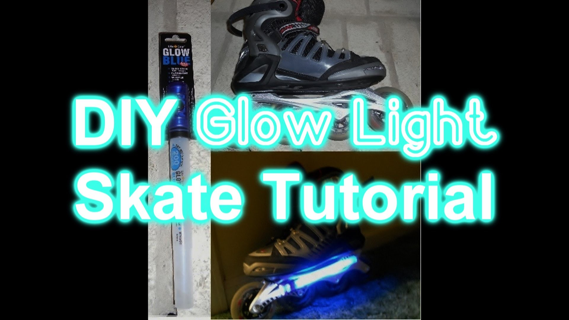 #448 - DIY GLOW LIGHT Inline Skates Tutorial
