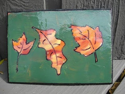 Autumn Art Craft Tutorial