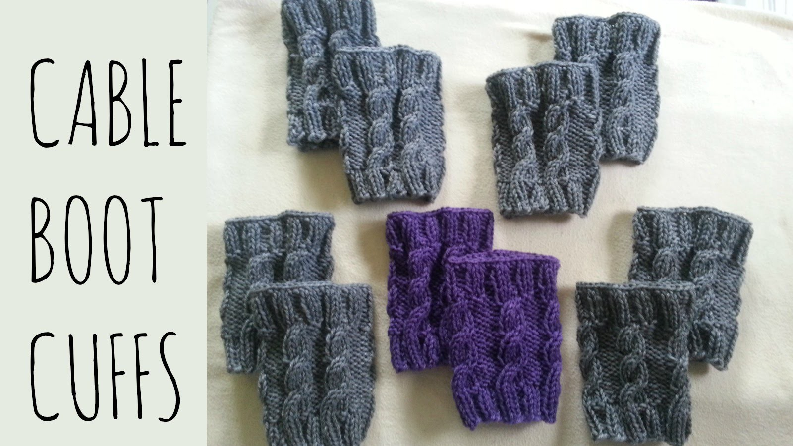 Cable Boot Cuffs Tutorial [Fixed] | Knitting Pattern