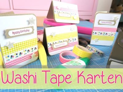[CRAFT ROOM] Tutorial Washi Tape Karten - masking tape cards
