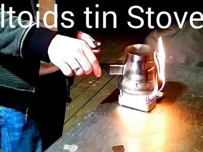 DIY Altoids tin stove!! Altoids Projects!