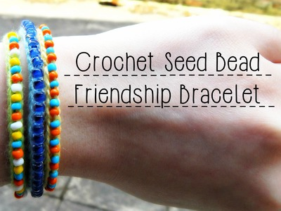 DIY Crochet Seed Bead Friendship Bracelet ¦ The Corner of Craft