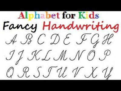 DIY Fancy Letters -  Handwriting Tutorial - Alphabet in colours for kids