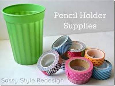 Diy one direction craft supplies holder