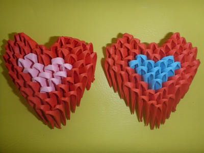 DIY Origami 3D Herz Geschenk zum Muttertag, Mother´s day Gift Ideas Heart, Anleitung, Tutorial