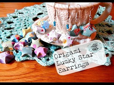 DIY Origami Lucky Star Earrings ¦ The Corner of Craft
