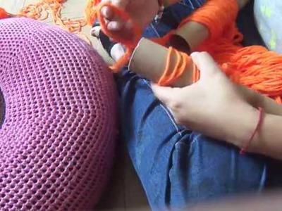 DIY Tejido con los Brazos Arm Knitting con Tubos de Cartón