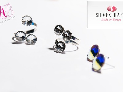 DIY Tutorial | Come assemblare un anello in argento 925 e cristalli swarovski - Silvexcraft