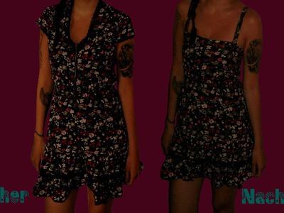 DIY Upcycling Näh-Tutorial - Sommerkleid - aus einem alten Kleid ein neues nähen