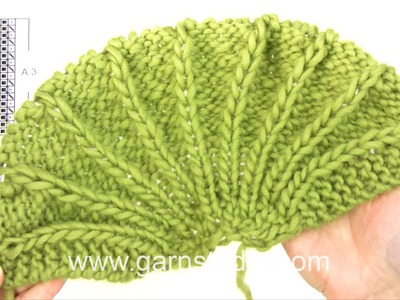DROPS Knitting Tutorial: How to work after chart A.3 in DROPS 156-30