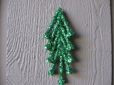 Golf Tee Glitter Christmas Tree Craft Tutorial