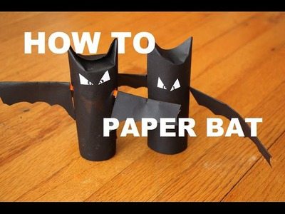 Halloween Cute Paper BAT craft - DIY Tutorial Easy to Make