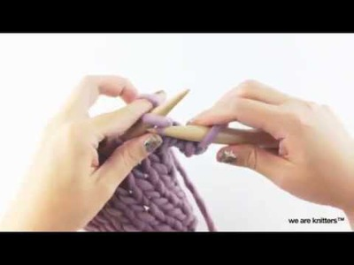 How to bind off knitting and yarn over | We Are Knitters