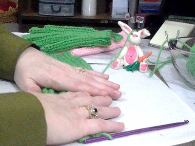 How to Crochet Gloves.Shower Glove Part 2