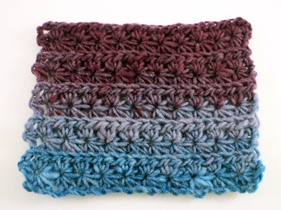 How to Crochet the Star Stitch Left Handed