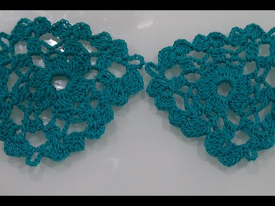How To Crochet Triangle Flower Motif Tutorial Pattern #2
