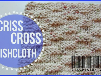 How to Knit a Criss Cross Dishcloth {Basketweave}