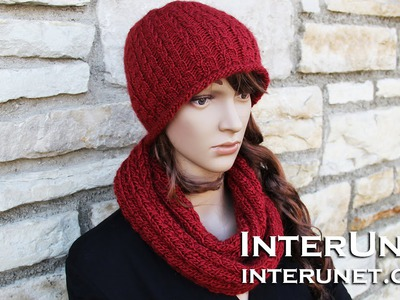 How to knit a scarf - infinity scarf knitting pattern