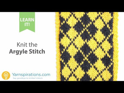 How To Knit the Argyle Stitch