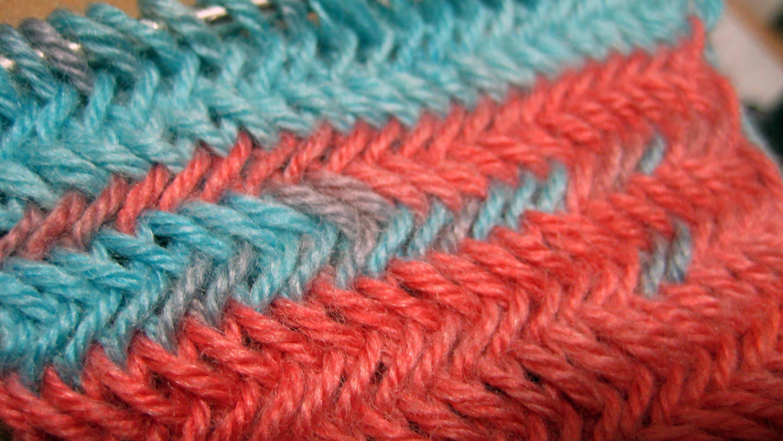 Вытянутый колосок вязание спицами