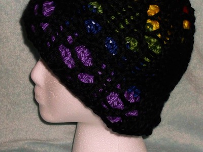How to Loom Knit a Lace. Stained Glass Hat