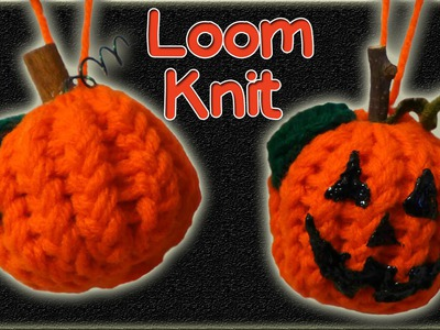 How to Loom Knit a Pumpkin
