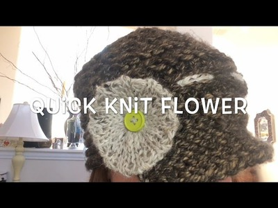 How to Loom Knit a Quick Knit Flower | Loom Along