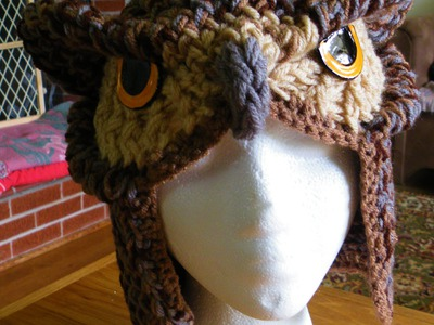 How to Loom Knit Realistic Owl Hat Pattern
