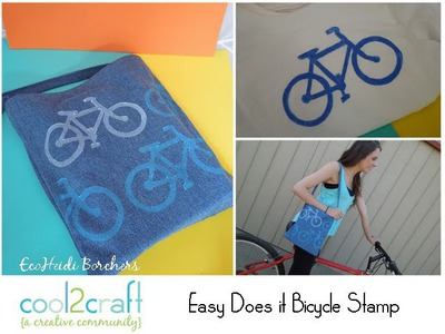 How to Make a Bicycle Themed Stamp from Craft Foam by EcoHeidi Borchers