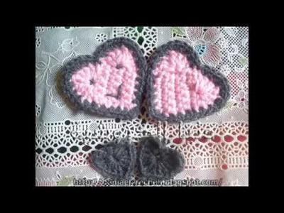 How to make crochet  HEART طريقة عمل قلب كروشية