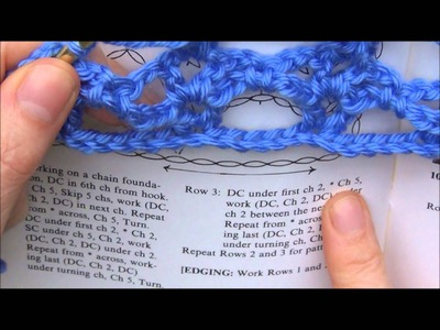 How to Read a Pattern and Crochet a Lacy Stitch