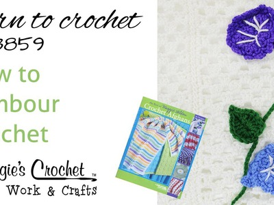 How to Tambour Crochet - Chain Stitch on Top - LA3859 Morning Glory Stem Ver  1-Right Hand