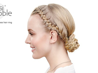 Invisibobble DIY hair tutorial: boho bun braid