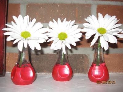 Painted Bud Vases Craft Tutorial
