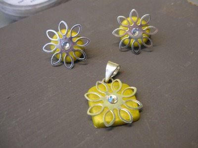 Pendant and Earrings Craft Tutorial