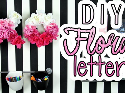 Spring Room Decor: Dollar Store Crafts- DIY Floral Letters | DecorateYou