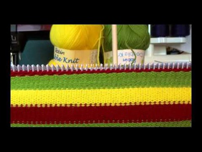 STRIPE BABY BLANKET ON THE KNITTING MACHINE USING COLOUR PALETTE