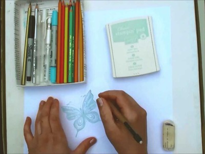 Traced Doodling - a paper craft technique tutorial
